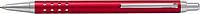 SÁRA Hliníkové tlačítkové kuličkové pero s modrou náplní, červené - psací potřeby