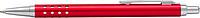 SÁRA Hliníkové tlačítkové kuličkové pero s modrou náplní, červené