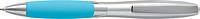MICHAL Plastové KP s kovovým klipem, modrá n., světle modré