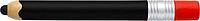 Plastové KP se stylusem, ve tvaru tužky,černá n., černé
