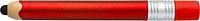 Plastové KP se stylusem, ve tvaru tužky,černá n., červené