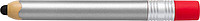 Plastové KP se stylusem, ve tvaru tužky, černá n., stříbrné