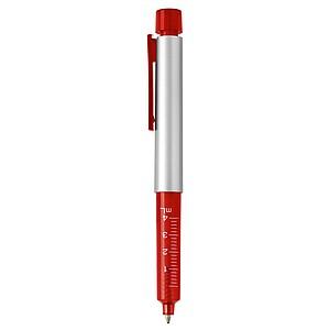 Transparentní červené KP v podobě injekční stříkačky,modrá n.