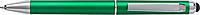 MATY Otočné plastové KP se stylusem a modrou náplní, zelené