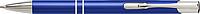 PIRANO Hliníkové kuličkové pero s modrou náplní, stříbrné detaily, modré