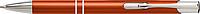 PIRANO Hliníkové kuličkové pero s modrou náplní, stříbrné detaily, oranžové