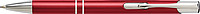 PIRANO Hliníkové kuličkové pero s modrou náplní, stříbrné detaily, červené