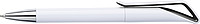 HADAS Kuličkové pero s otočným mechanismem, modrá n., bílé tělo, černý detail