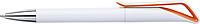 HADAS Kuličkové pero s otočným mechanismem, modrá n., bílé tělo, oranžový detail - psací potřeby