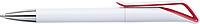 HADAS Kuličkové pero s otočným mechanismem, modrá n., bílé tělo, červený detail