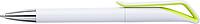 HADAS Kuličkové pero s otočným mechanismem, modrá n., bílé tělo, světle zelený detail - psací potřeby