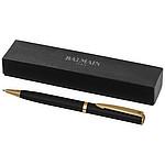 Lakované kuličkové pero Balmain, černá, chrom