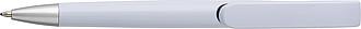 LEMBERO Plastové kuličkové pero v bílé barvě s barevnými doplňky, bílá/černá