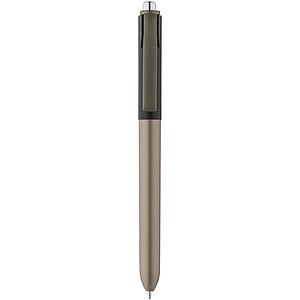 OMBOR Plastové kuličkové pero s kovovým vzhledem, olivová