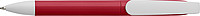 TEBULO Plastové kuličkové pero s otočným mechanismem, červené