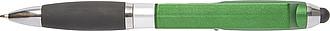 Plastové KP s černou náplní, slouží i jako stojánek na mobil, zelené
