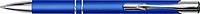 ROGLO Kovové KP s modrým pogumovaným povrchem, stříbrnými kroužky a modrou n.