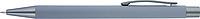 TEZIMIN Kuličkové pero s pogumovaným povrchem a modrou náplní, šedé