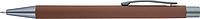 TEZIMIN Kuličkové pero s pogumovaným povrchem a modrou náplní, hnědé