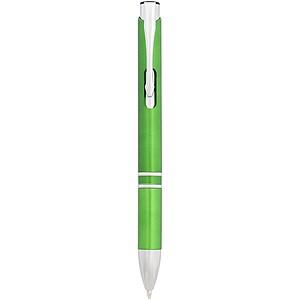 Plastové kuličkové pero, středně zelená