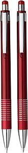 CONCRETE Sada kuličkového pera a mikrotužky v plastové krabičce, červená - psací potřeby