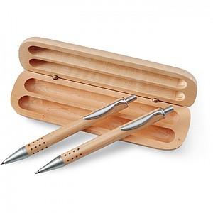 Dřevěná dárková sada pera a mikrotužky v krabici