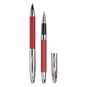 METOD Sada kuličkového pera a rolleru v pouzdře, červená - psací potřeby