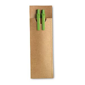Souprava rec.tužky a kul.pera, limetková