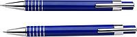LANELI Sada mikrotužky a kuličkového pera s černou náplní, v dárkové krabičce, modrá