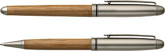 Bambusová psací sada, kuličkového pera a roller, v krabičce