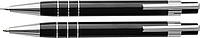 CHRISTEL Sada mikrotužky a kuličkového pera s černou náplní, v pouzdře, černá