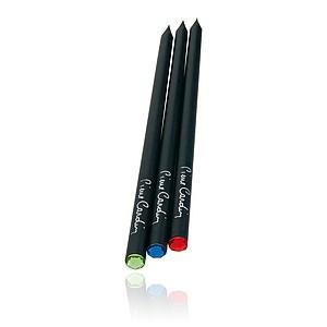 PIERRE CARDIN OPERA Sada 3 černých tužek s krystalem Swarovski - červený, modrý a zelený