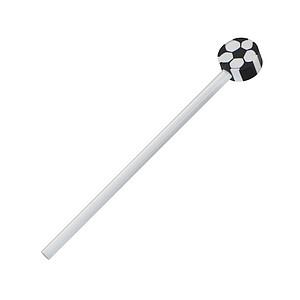 Neořezaná dřevěná tužka s gumou ve tvaru kopačáku