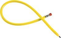 Ohýbací tužka s gumou, plast, žlutá