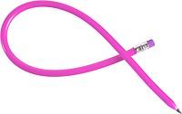 LAPISKA Ohýbací tužka s gumou, plast, růžová