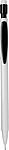 Mikrotužka s tuhou 0.7mm, a bílou gumou, bílo černá