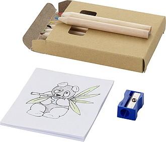 CAMIGO Sada 6 ks pastelek, ořezávátko a blok - psací potřeby