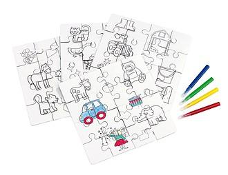 KRAJOLKA Puzzle omalovánky a fixy
