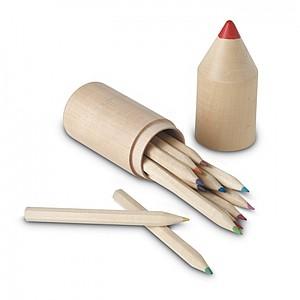 12 dřevěných tužek v dřevěné krabičce