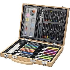 Souprava pastelek a vodových barev (67 ks) v kufříku