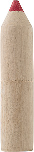 Dřevěná tuba ve tvatu tužky s 6 pastelkami