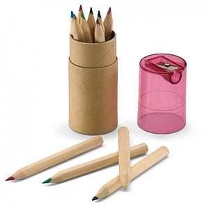 12-dílné barevné tužky, transparentní červená