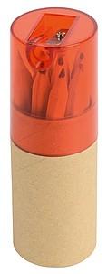 Sada 12 pastelek v tubě s ořezávátkem v plastovém víčku, červené