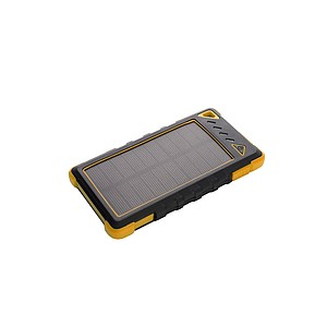 SCHWARZWOLF IKIMBA Solární powerbanka, žlutá, kapacita 8000mAh