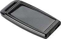 Plastová solární nabíječka, černá