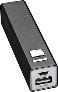 Power banka 2200MAh s USB kabelem, černá