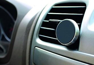 BONDUEL Hliníkový magnetický držák do auta, stříbrný