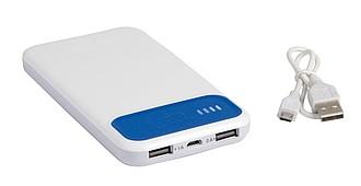 JAWA Plastová powerbanka s kapacitou 10000 mAh, bílá/modrá