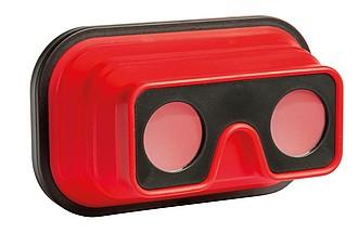 VR brýle, skládací, červené