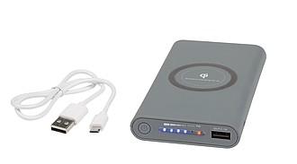 Powerbank s kapacitou 10000mAh s možností bezdrátového nabíjení